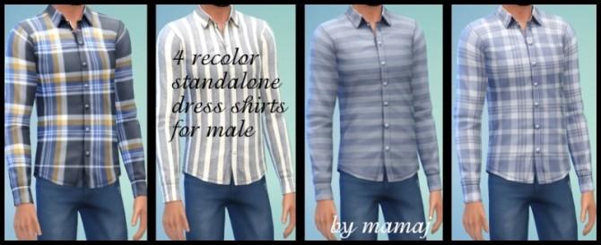 Sims 4 4 recolor shirts by mamaj at Simtech Sims4