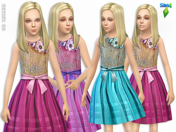 Party Dress with Glitter by lillka at TSR image 2348 Sims 4 Updates