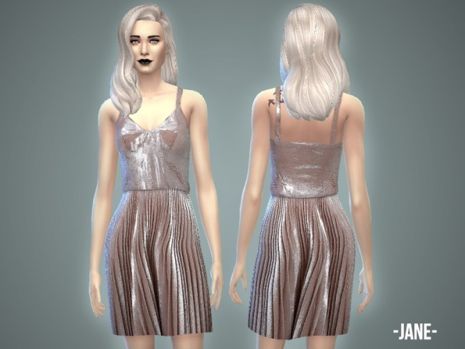 Jane dress at April Simbling image 2350 Sims 4 Updates