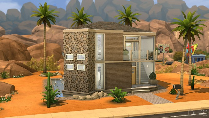Sims 4 752 Rock Avenue, Minnesota house by Samuel at DH4S
