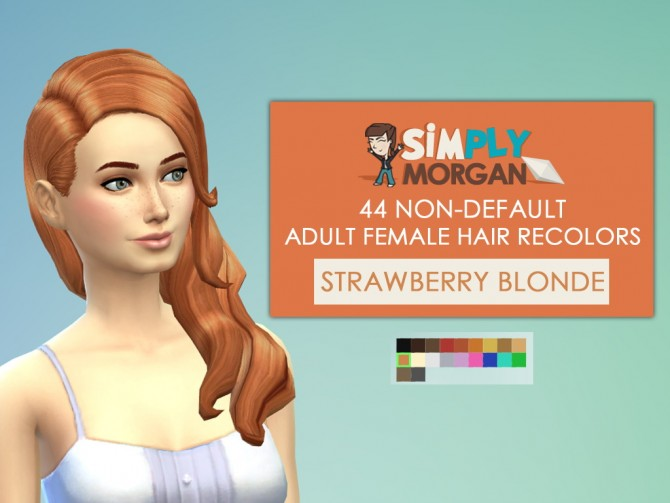 44 Non Default female Hair Recolors at Simply Morgan image 2417 Sims 4 Updates