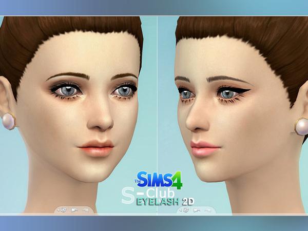 Sims 4 Eyelash 01 by S club at The Sims Resource