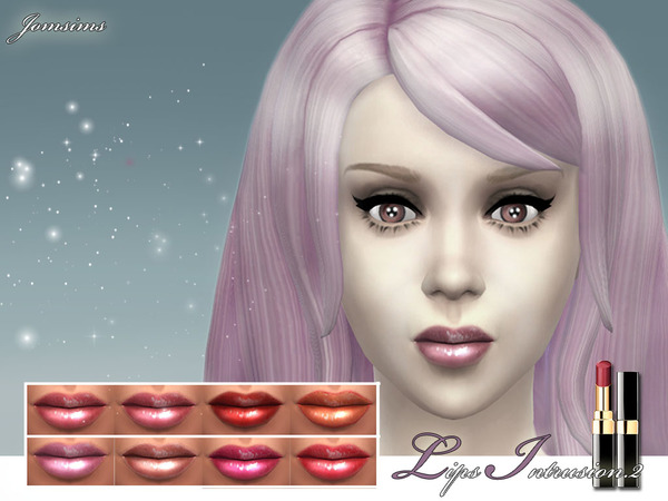 Sims 4 Lips intrusion 8 realistic colors at The Sims Resource