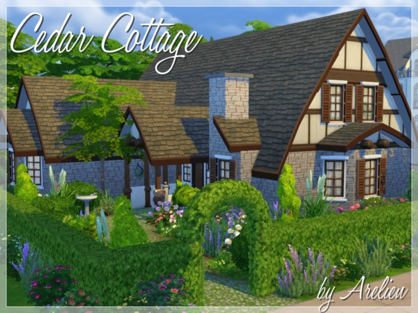 Sims 4 Cedar Cottage by Arelien at The Sims Resource