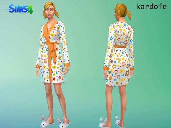 Bathrobe recolor by kardofe at TSR image 2439 Sims 4 Updates