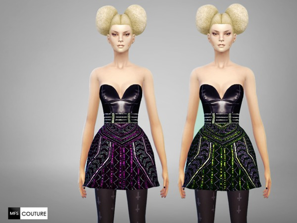Licorice Dress by MissFortune at TSR image 2442 Sims 4 Updates