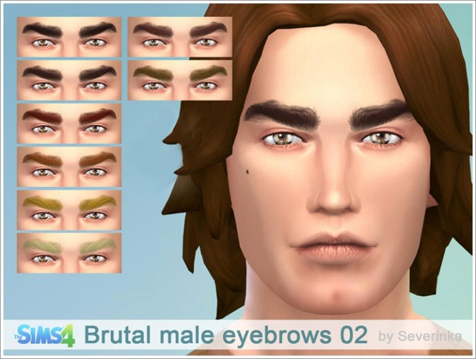 Sims 4 Brutal male eyebrows 02 at Sims by Severinka