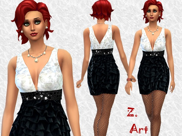 Sims 4 Celebration dress by Zuckerschnute20 at TSR