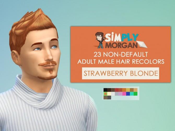 23 Hair and 14 Facial Hair Recolors for males at Simply Morgan image 2516 Sims 4 Updates