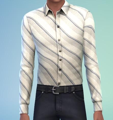 Sims 4 Stripped dress shirt for YA/M by mamajanaynay at Simtech Sims4