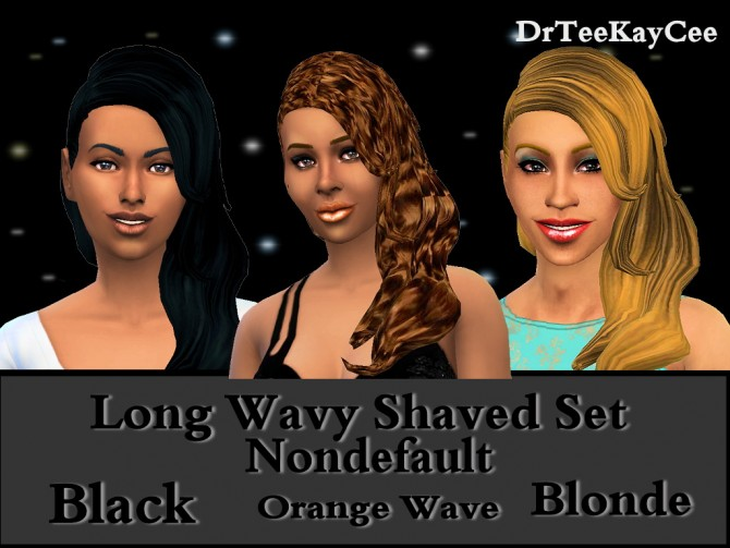 Long Wavy Shaved hairstyle retextured at Sim Culture Nation image 2525 Sims 4 Updates