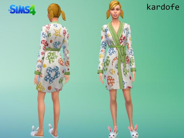 Bathrobe recolor by kardofe at TSR image 2540 Sims 4 Updates