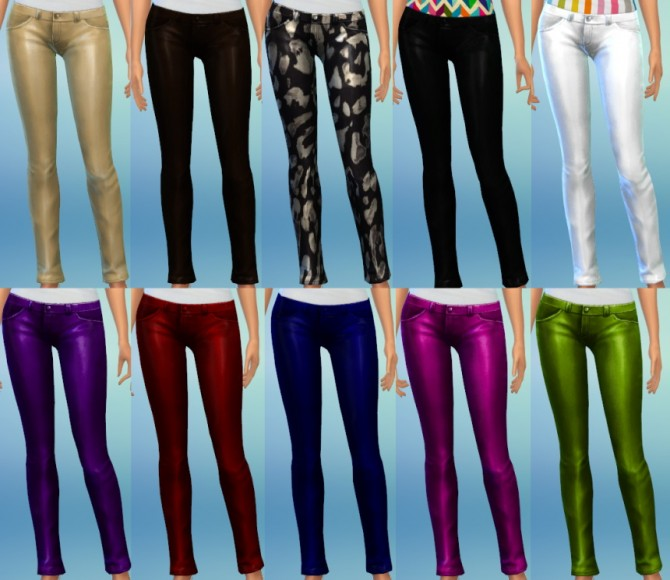 Sims 4 10 Skinny Leather Pants at The Simsperience