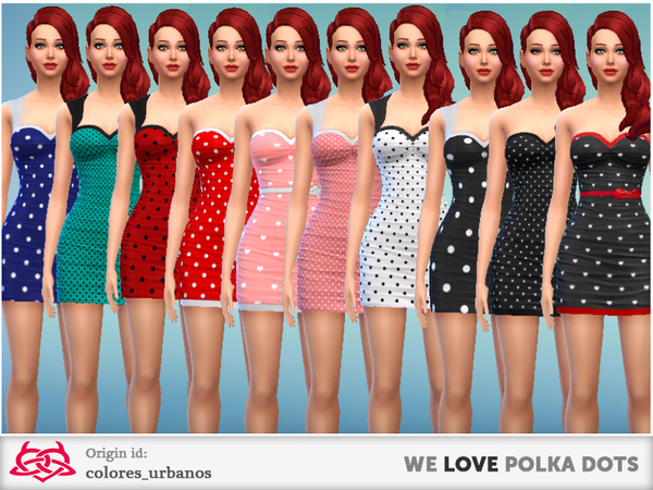 we LOVE polka dots dresses by Colores Urbanos at The Sims Resource image 2625 Sims 4 Updates