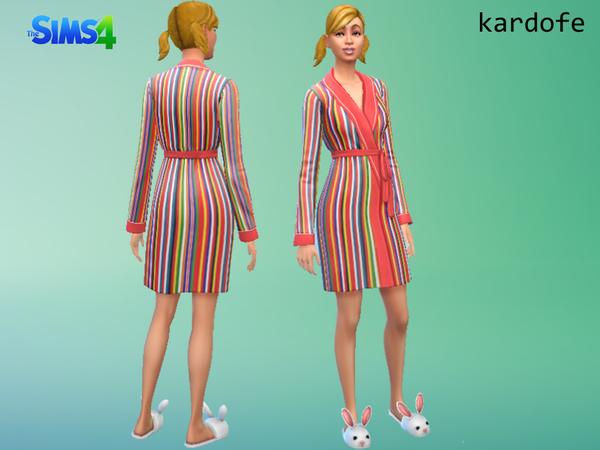 Bathrobe recolor by kardofe at TSR image 2638 Sims 4 Updates