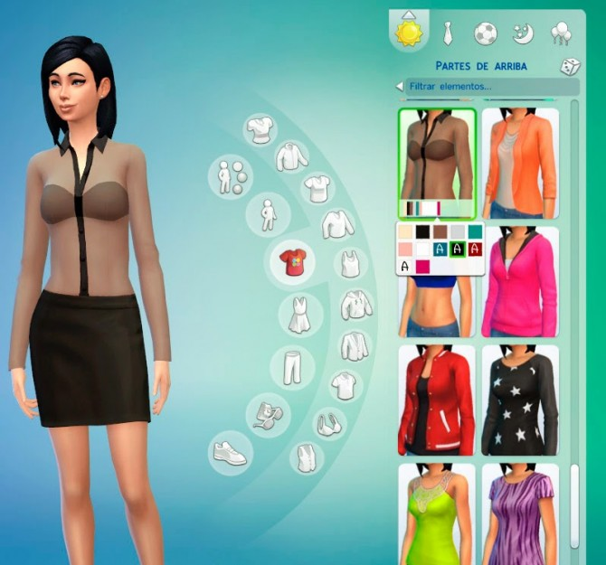 Sims 4 Transparent Blouse at Ayla's Sims