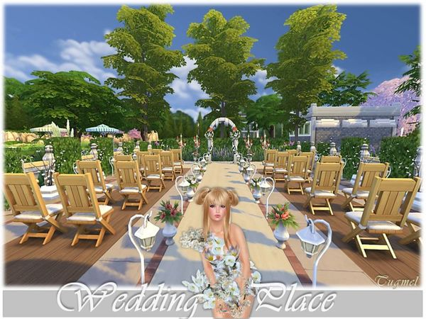 Wedding Place 01 by TugmeL at The Sims Resource image 2714 Sims 4 Updates