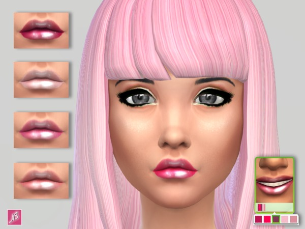 Pink Lip Jelle by Alexandra Sine at TSR image 27261 Sims 4 Updates