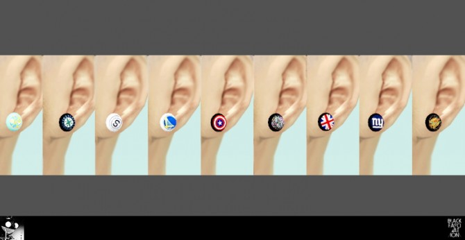 Sims 4 Ear acc (M/F) + mr.jones watches at Black le
