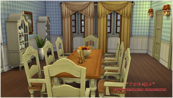 Sims 4 Kitchen + dining room at Sims by Mulena
