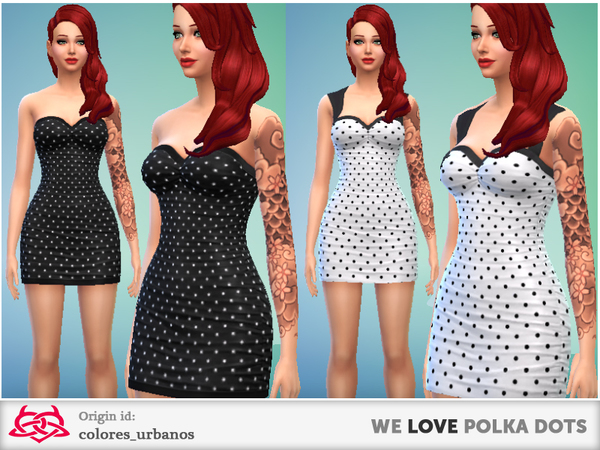 we LOVE polka dots dresses by Colores Urbanos at The Sims Resource image 2825 Sims 4 Updates