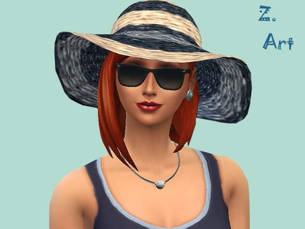 Straw Hat by Zuckerschnute20 at TSR image 2829 Sims 4 Updates