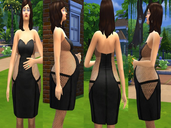 Black Fishnet Dress. by luckyoyo at Mod The Sims image 283 Sims 4 Updates
