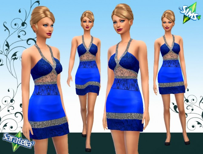 Sims 4 Frivolous non default dress at Saratella's Place