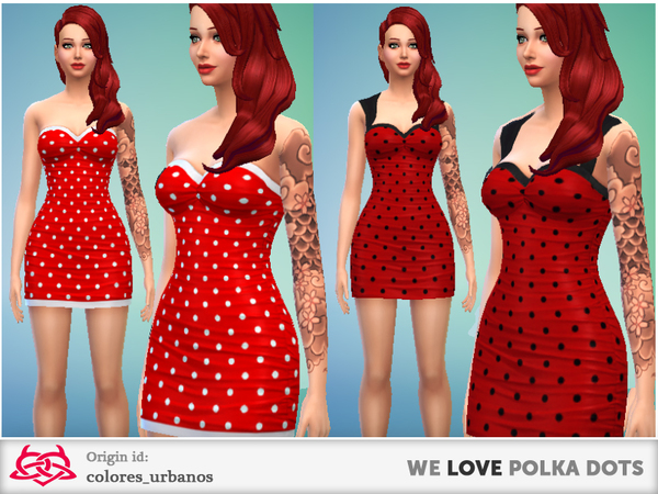 we LOVE polka dots dresses by Colores Urbanos at The Sims Resource image 2925 Sims 4 Updates