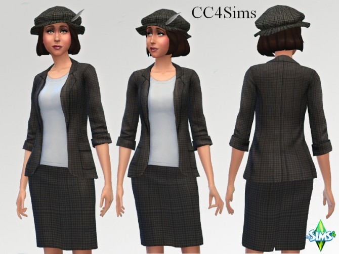 Sims 4 Office outfit by Christine at CC4Sims