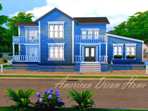 American dream home by hazelsims at the sims resource for American dream homes
