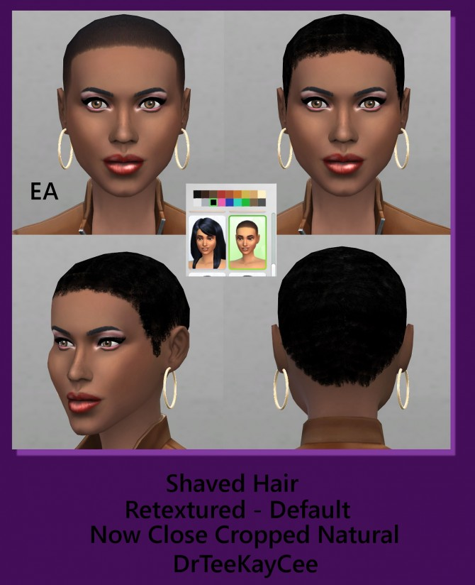 Sims 4 Shaved hair retexture natural short cropped hairstyle at Sim Culture Nation