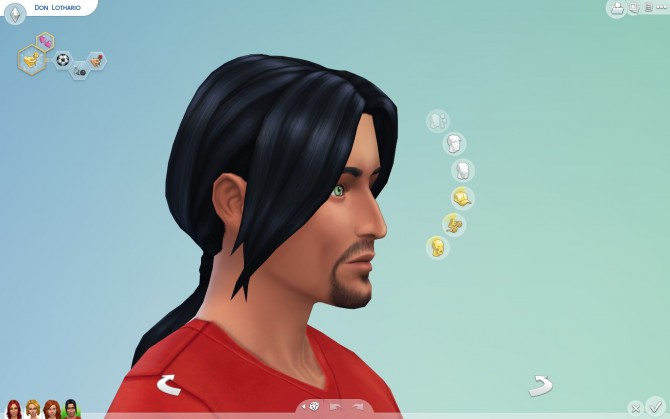 Sims 4 Long Ponytail for males by Sydria at Mod The Sims