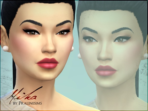 Sims 4 Mika no CC by Pralinesims at TSR