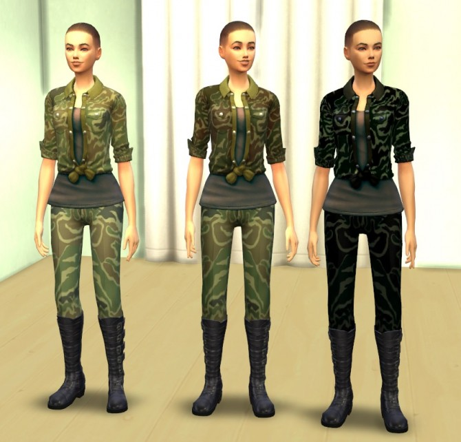 Military woman by darklye at mod the sims image 3044 sims 4 updates