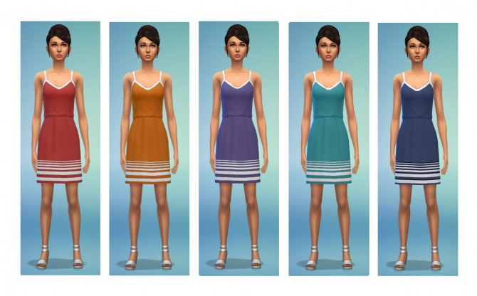 5 dress recolors at Simsnacks image 3101 Sims 4 Updates