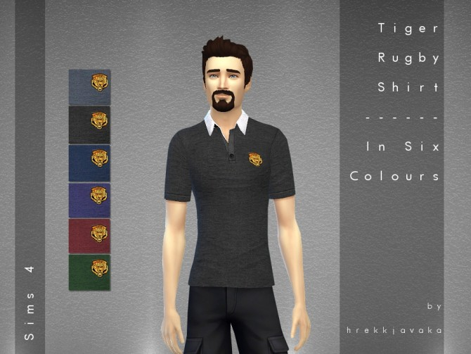 Sims 4 Mens rugby shirt at Hrekkjavaka Sims