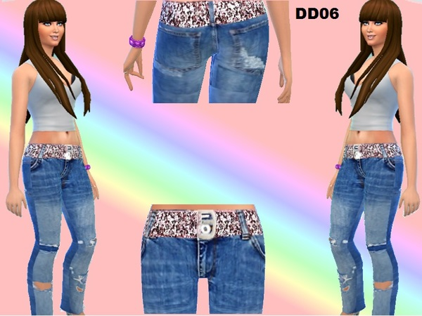 Ripped skinny jeans by DivaDelic06 at TSR image 3141 Sims 4 Updates