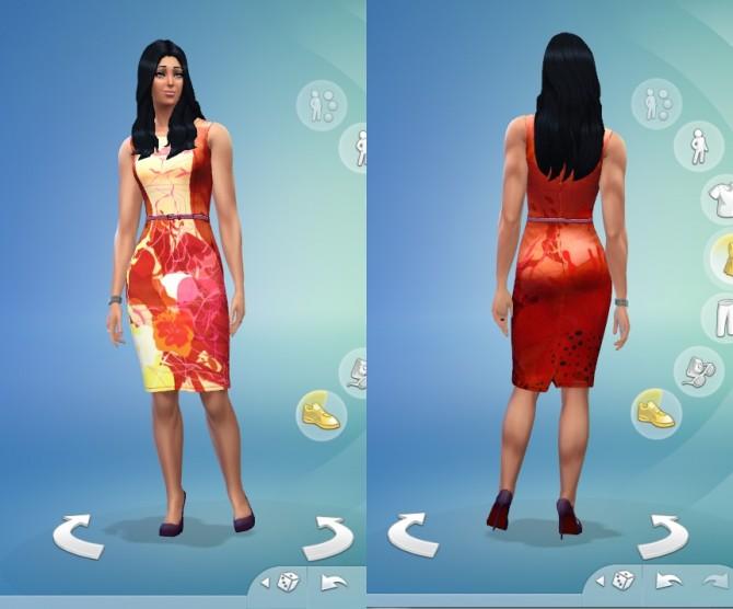 Sims 4 Flora Dress by DalaiLama at The Sims Lover