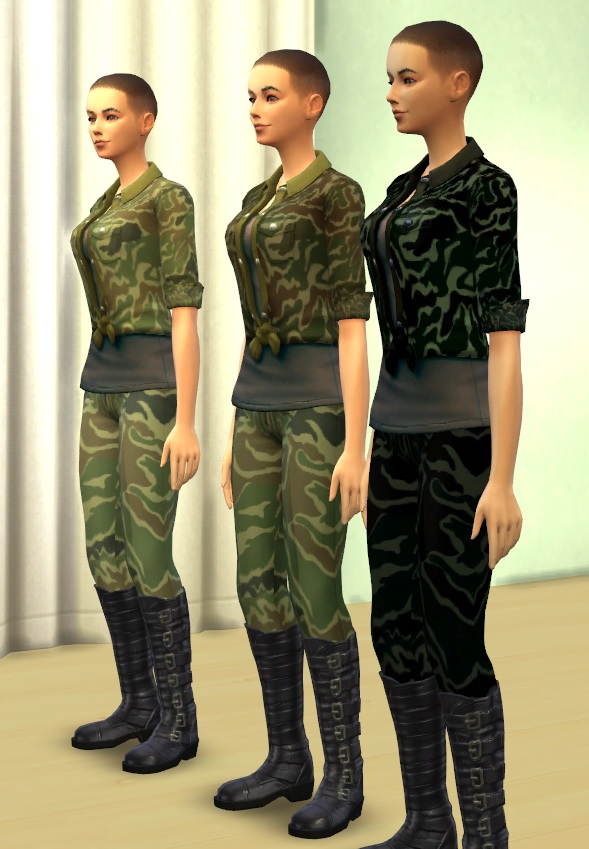 Military Woman By Darklye At Mod The Sims 187 Sims 4 Updates