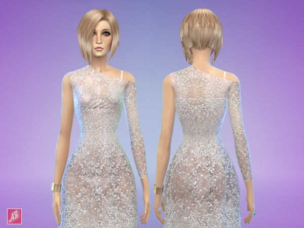 Sims 4 Glamor Dress by Alexandra Sine at The Sims Resource