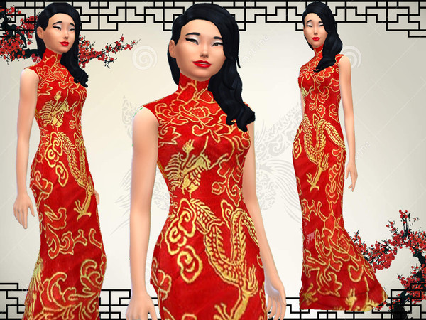 Kimonodress by JinxTrinity at The Sims Resource image 3224 Sims 4 Updates