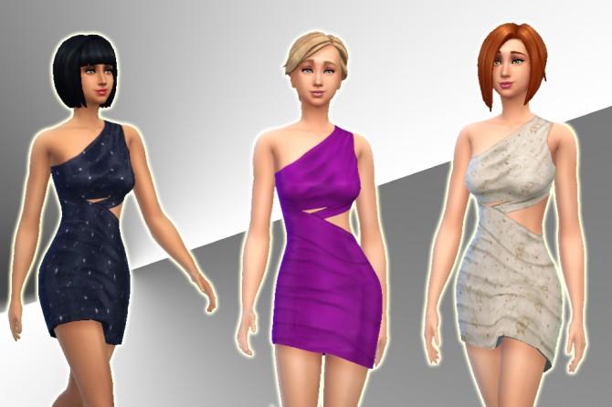 Draped Dress by Kiara24 at Mod The Sims image 3228 Sims 4 Updates