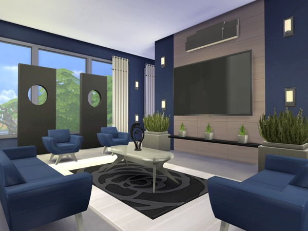 Kismet modern house by chemy at tsr sims 4 updates for Modern living room sims 4