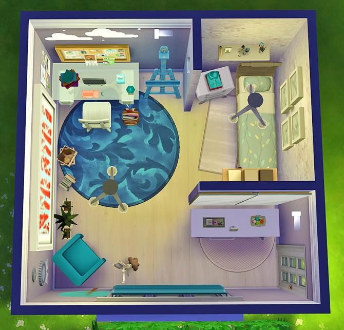 Sims 4 Aspen Teenage Bedroom at Simkea