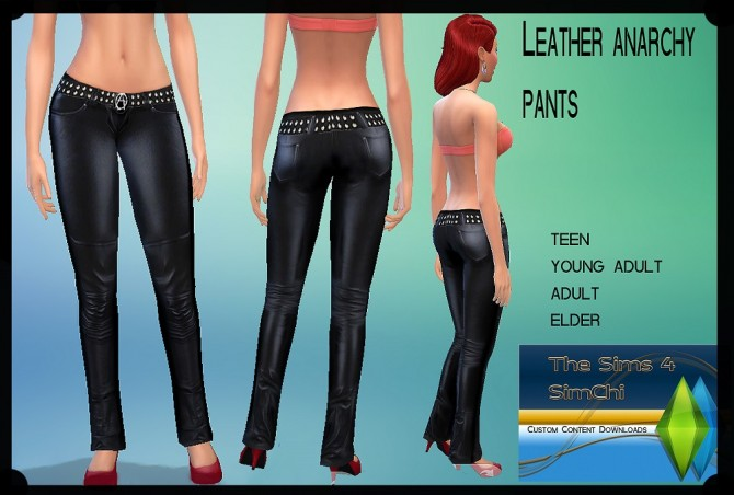 Leather Anarchy Pants by Lady Ivory at MTS image 3326 Sims 4 Updates