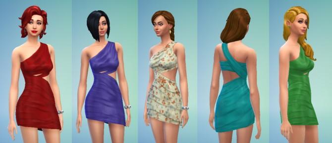 Draped Dress by Kiara24 at Mod The Sims image 3328 Sims 4 Updates