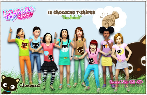 Chococat child T Shirts at Gabymelove Sims image 3413 Sims 4 Updates