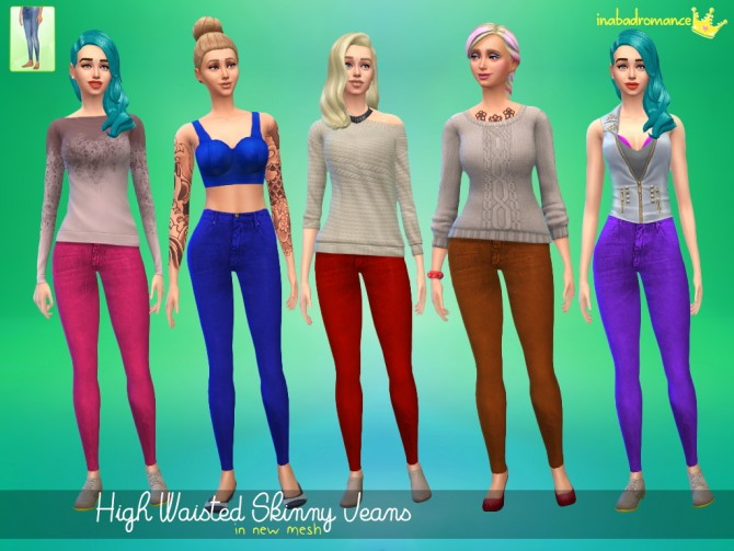 High waisted jeans at In a bad Romance image 3416 Sims 4 Updates