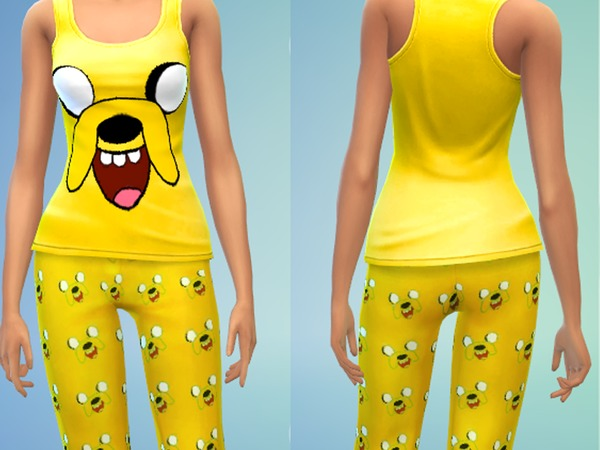 Sims 4 Jake Pjs for females by Lanessear at The Sims Resource